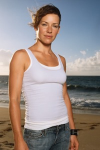 Evangeline Lilly as Kate Austen.